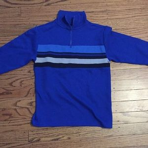 Other - Blue and white long sleeve zipper neck shirt